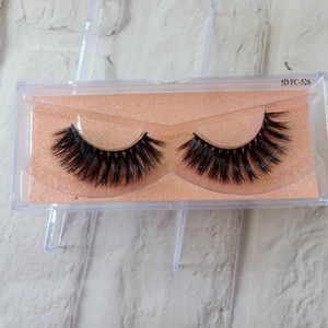 Top Selling 5D Faux Mink Eyelashes 100% Handmade Mink Hair Full Strip Lashes Natural Thick Cross False Eyelashes