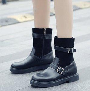 Ins Мартин сапоги женские короткие трубки новой осенью и зимой чистые красные женские туфли диких Корейский ulzzang тонкие и тонкие сапоги