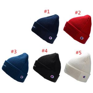 Champion Letter Knitted Hat Winter Beanie Brand Skull Cap Men Women Crochet Hats Brand Knit Caps Sports Hip Hop Warm Hat Ear Muff Hot Sale