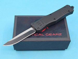 On Sale!! DHL Fast Shipping 7 Inch Small Size 616 Auto Tactical Knife 440C Black Blade EDC Pocket Knives With Nylon Bag