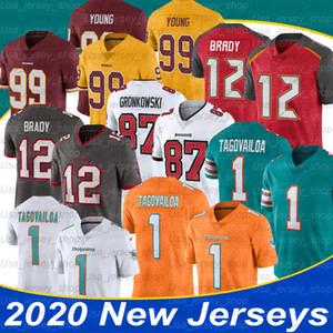NCAA Tom Brady 12 Jersey Rob Gronkowski 87 Chase giovane 99 Tua Tagovailoa 1 del calcio Jersey