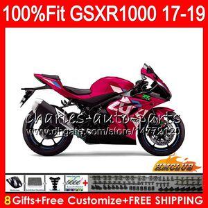 Injeção Para SUZUKI GSX-R1000 L7 L8 GSXR 1000 2017 2018 2019 luz vermelha quente 17HC.71 GSX R1000 K17 GSXR-1000 GSXR1000 17 18 19 kit Carenagem
