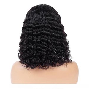 A Indian Curl Wig Curly Lace Front Human Hair Wigs Lace Frontal Wig Short Bob Pre Plucked With Baby Hair Lace Closure Wig