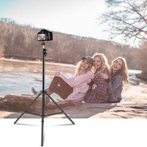 Flash Light Studio Fotografia Marca lampeggiatore Umbrella stand 2m / 6,5 piedi Holder 1/4 testa staffa treppiede T191025