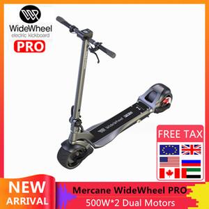 2020 New Mercane WideWheel Pro intelligent Scooter électrique 48V 1000W Kickscooter large roue de frein à disque double moteur Skateboard large roue Scooter