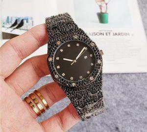 Frete grátis 2020 de alta qualidade luxo Iced Out Assista Ouro Diamond Watch para as Mulheres Homens Big quartzo impermeável relógio de pulso Relogio Masculino