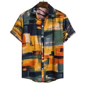 Digital Print diseñador del Mens camisas de moda de manga corta solo pecho hombre del diseñador camisas casual hombres ropa