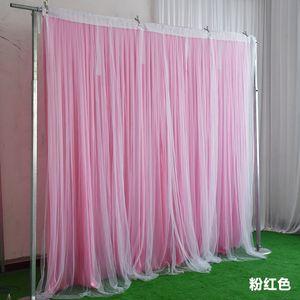 Nueva 3mx6m doble capa de boda decoraciones de la fiesta de cumpleaños de cortina de telón de fondo de la cabina de fotos de puertas centrales de la boda cortina contexto cumpleaños