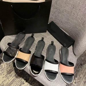 Flip plat d'été de luxe pantoufles logo femmes lettre sandale designer concepteur Flops mode en peau d'agneau 3.5cm pantoufle de vacances