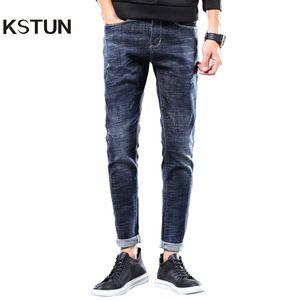 KSTUN Herren Jeans Marke Stretch 2020 Slim Fit Solide blauer beiläufige Denim-Hosen Ganzkörper Male Hosen Jeans Cowboy Jean Hombre