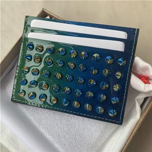 In New Spot Art und Weise Weide Nagelkopf Schichtrindkartenhalter kompakter Mini-Trend Kreditkarteninhaber Laser Weide Nagel kleine Kartenbeutel