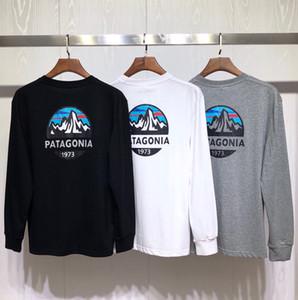 Dağ Patagonya tişörtleri 19fw Tasarımcı Erkekler Yeni Sonbahar İlkbahar Harajuku Tops
