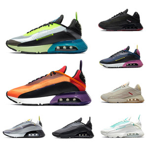 Nike Air Max 2090 Airmax Volt Praia Grande 2090 Mens Running Shoes Aurora Green Magma Orange Navy Magenta Black Anthracite Wolf Grey 남성 여성 트레이너 스포츠 아웃 도어 스니커즈