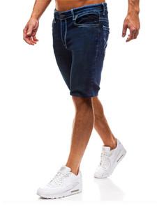 Mens Designer estate Solid jeans di colore dei pantaloni di scarsità di modo nero blu stile Homme Abbigliamento casual Abbigliamento
