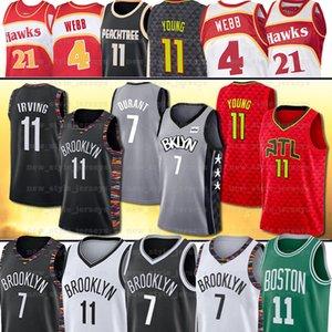 NCAA 7 Kevin BrooklynNet Jersey Durant 11 Trae Irving Jovem Kyrie 4 Spud Webb Dominique Wilkins Basketball Jerseys AtlantaFalcão