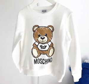 Sudadera de diseño para niños Patrón de oso de lujo Jerseys para niñas Sudaderas con capucha para niños activos Ropa para niños de marca 2020 Nuevas mangas largas para niños