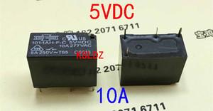 Free shipping lot (5 pieces lot)original New 101-1AH-F-C-5VDC 101-1AH-F-C-12VDC 4PINS 10A DC5V DC12V Power relay