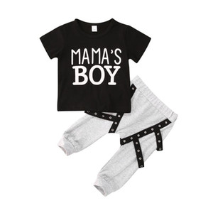 CitgeeSummer 0-3Y Newborn Baby Boys Clothes Sets Letter Short Sleeve Pullover T Shirts Tops+Pants 2pcs
