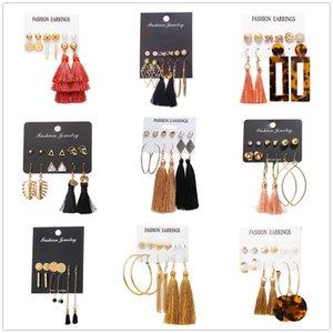 Boho Kristall Lange Troddel-Tropfen-Ohrringe für Frauen Ethnische Geometrische Rose Blume Zeichen baumeln Statement Ohrring 2019 Modeschmuck in Groß