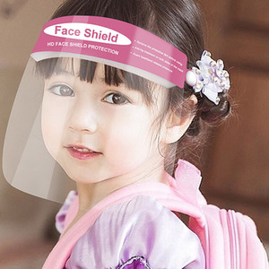 2 cores protetor facial For Kids Anti-fog Anti-fumaça máscara transparente PET anti-neblina ajustável Máscara Facial frete grátis