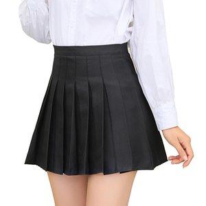 Plus Size Harajuku Short High Waist Skirt New Korean Plaid Skirt Women Zipper School Girl Pleated Plaid Sexy Mini