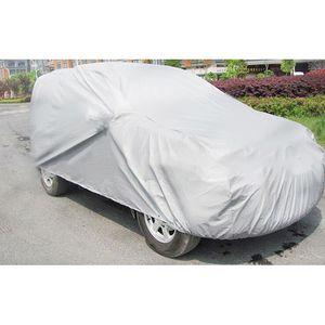 Universal Pliable Lumière Argent Taille S-XXL Auto Outdoor Car Cover Protector Car Covers neige glace poussière soleil UV Couverture Shade