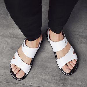 Sommer Sandalen öffnen Zehe-Anti-Rutsch-beiläufige Sport-Strand-Schuhe Slip-Wear Dual-Purpose Solid Color Versatile Männer Sandalen