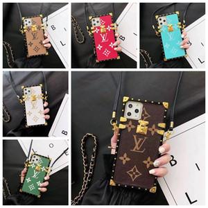 Marca de moda bolsas de diseño de caja del teléfono para el iPhone 11 11 Pro máximo Xr X X max 8 7 6S Plus patrón Volver cubierta de TPU Caso del enrejado A16
