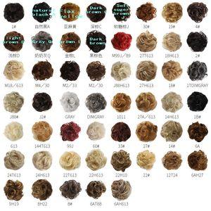 Мода синтетические Chignons Hair Pun Messy Scrunchies Extension Extension English Friend Ponytail Волосы CUN BUN Принадлежности для волос