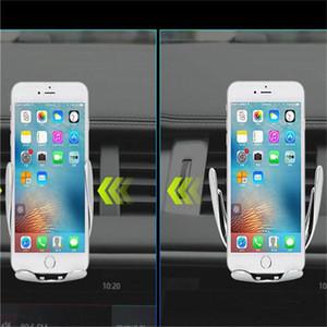 S5 original automático de sujeción del cargador de coche inalámbrico para iPhone Android salida de aire del titular del teléfono rotación de 360 grados de carga Soporte de montaje de DHL