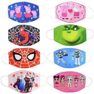 Brinquedos dos desenhos animados Anti Poeira reutilizável respirável Algodão Protecção Crianças Kid PM2.5 anti-poeira bonito Máscara Boca Rosto