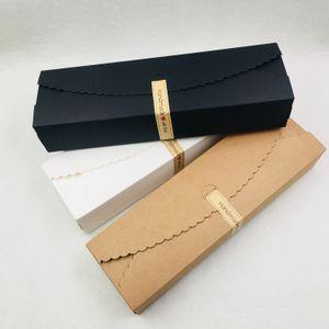 20pcs lot Natural Brown Kraft Paper Packaging Box handmade Soap Packaging Box Wedding Favors Candy Gift Long Paper Box CX200704