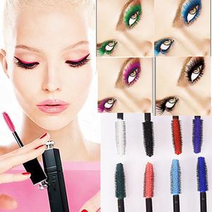 Rainbow Colorido Mascara Profissional Olhos Maquiagem À Prova D 'Água Fácil Remover Punk Azul Branco Vermelho Preto Roxo Alongar Cílios Cor Mascara