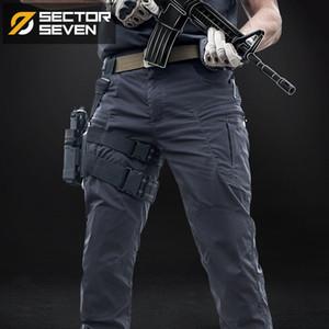 Sector Sete impermeáveis táticos Guerra Jogo de carga calças dos homens silm Calça Casual homens calças Exército calças ativos militares T200219