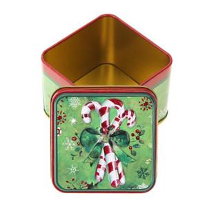 1pc de sucrerie de Noël Coffrets cadeaux packge Joyeux Noël Décoration de Noël Party Favor cadeau Boîte Tin bonbons Container Cookies Case