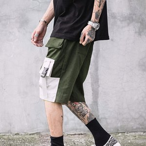 2020 Summer Men Shorts Loose Summer Black Casual Five Pants Men Trend Hip Hop Pants Trousers Men Beach Pants