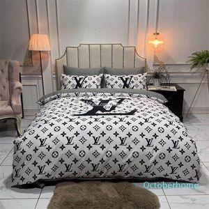 Setleri Bedding Moda Queen Size Yatak Takımları Çarşaf 4adet Yorgan Kapak Lüks Tasarımcılar Amerika Avrupa Popüler Yatak Takımları