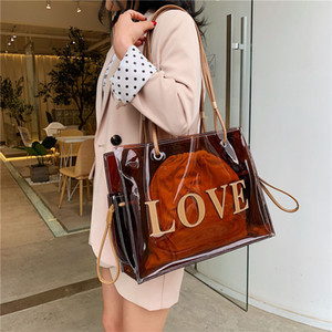 Designer-Top-manche Sacs pour les femmes grandes sacs fourre-tout clair pour les femmes de luxe Sacs à main design transparent main