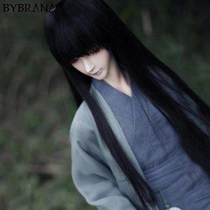 Bybrana Бесплатная доставка 1/3 1/4 1/6 1/8 BJD парики длинные черные прямые высокотемпературные волокна волос для кукол T200428