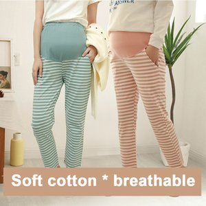100% Cotton Pregnant Sleep Pants Spring Summer Maternity Pants For Pregnant Women Stomach Lift Plus Size Maternity Yoga