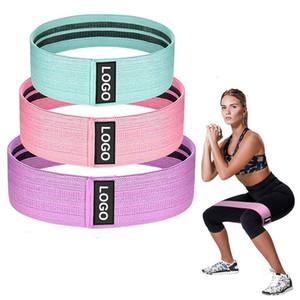 2020 nuevo ejercicio estiramiento círculo cadera, tela impresa botín banda Gym Fitness Glute banda de resistencia-1PC