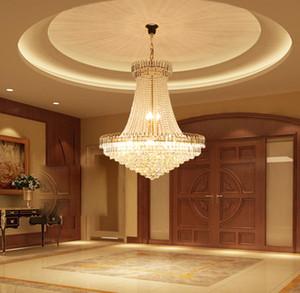 Lüks Altın Kristal Avize Işık Merdiven Işık Flush Avize Lustres de Cristais Luster kristal Çap LED 40 60 80CM