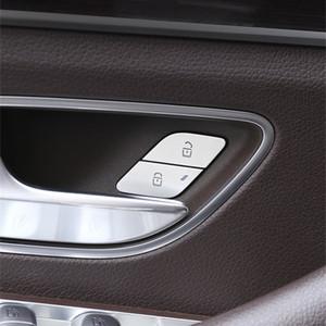Car Styling Porte Unlock commutateur Boutons Paillettes décoration autocollant de finition pour Mercedes Benz W167 W177 W247 GLE GLS GLB A Classe B