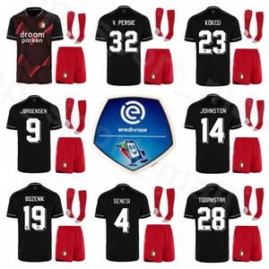 Kits de camiseta para niños Feyenoord Berghuis juventud Jersey calcetines Conjunto de fútbol PERSIE JORGENSEN Toornstra KOKCU FER JOHNSTON SENESI BOZENIK Fútbol