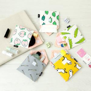 Sacchetti cosmetici in cotone per bambine per sacchetti di immagazzinaggio di assorbenti igienici
