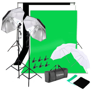 Background Stand Tissu non tissé Set photographie Studio Soft Soft Ombrella Kit et sac de transport Navire de USA