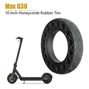 2PCS 10 дюймов Резиновые Сплошные шины для Ninebot Max Электрический самокат Honeycomb поглотитель Damping Tire черный