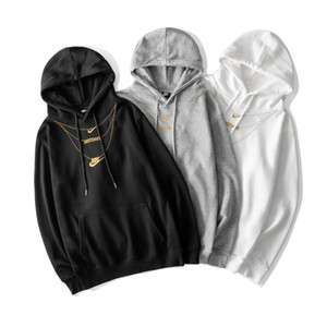 Nik New Autumn Hoody Hoodies Männer Warme Fleece-Jacke der Männer Insel Jacke mit Kapuze Stein Männer Slim Fit Hoodies Street beiläufige Sweatshirts