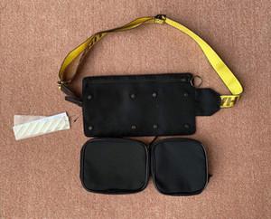 Nueva desmontable del cuerpo cruzado Hip inclinado bandolera unisex del paquete de Fanny Bolsa de cintura de los hombres de la lona de bolsos de bandolera bolsillo multi