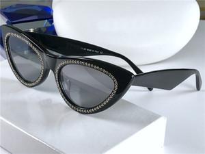 Nuovo di modo di vendita di occhiali da sole 4S019 telaio occhio di gatto presenta bordo materiale popolare protezione UV400 di alta qualità occhiali stile semplice